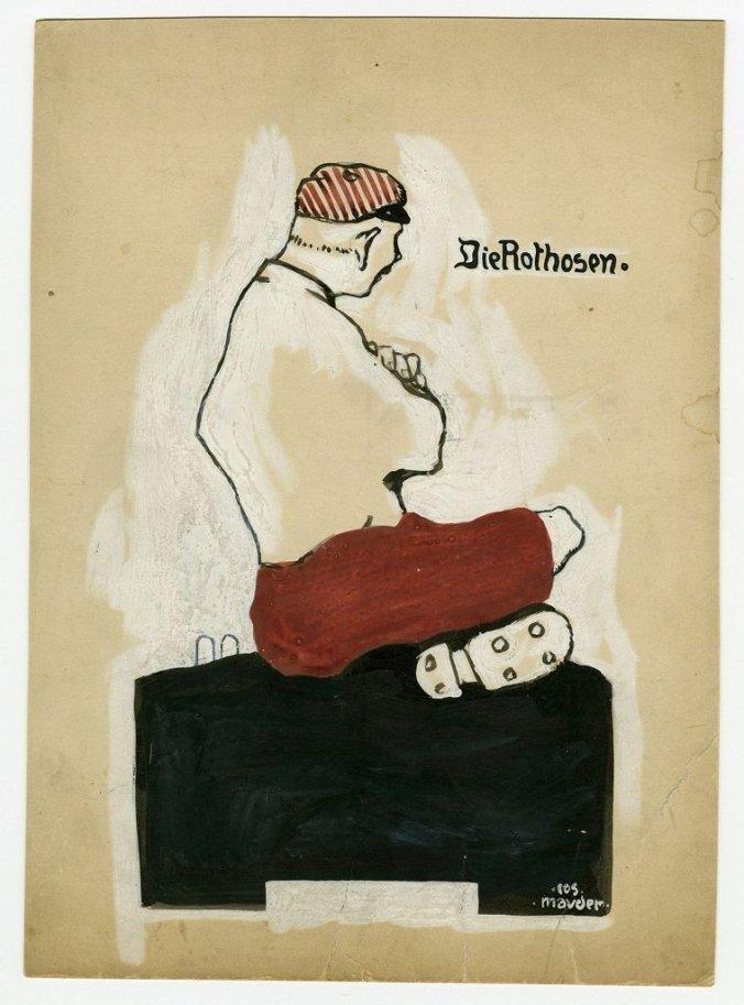Sepp Mauder: Die Rothosen (© Galerie Truk Tschechtarow/FC Bayern Erlebniswelt)